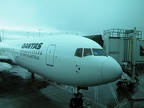 Qantas Airliner, Melbourne International Airport. This is the plane I took up to Sydney before my 2nd leg to LAX